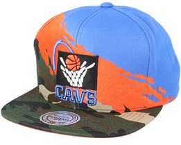 Cleveland Cavaliers Hwc Paintbrush Camo Snapback - Mitchell & Ness