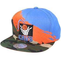 promo code e5f42 66631 Mitchell   Ness Cleveland Cavaliers Hwc Paintbrush Camo Snapback - Mitchell    Ness AU  41.99