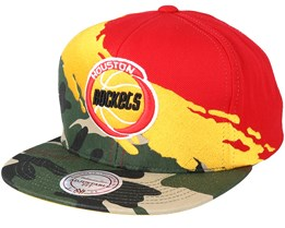 Houston Rockets Hwc Paintbrush Camo Snapback - Mitchell & Ness