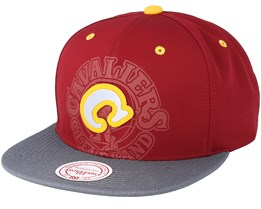 Cleveland Cavaliers Hwc Reflective 2 Tone Burgundy/Grey Snapback - Mitchell & Ness