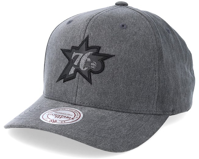 091c9d514f6 Philadelphia 76ers Hwc Washed Heather Black Adjustable - Mitchell   Ness cap  - Hatstore.co.in