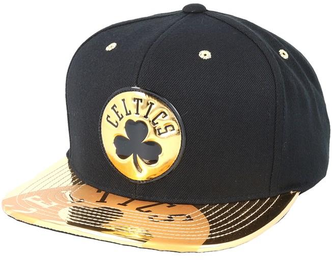 3e6edad2d95 Boston Celtics Gold Standard Black Snapback - Mitchell   Ness caps -  Hatstoreaustralia.com
