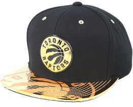 Toronto Raptors Gold Standard Black Snapback - Mitchell & Ness