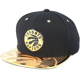 9b9a1c3256f Mitchell   Ness Toronto Raptors Gold Standard Black Snapback - Mitchell    Ness CA  39.99