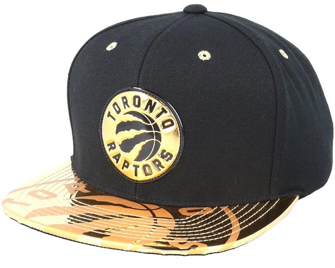 5ffdad1f314691 Toronto Raptors Gold Standard Black Snapback - Mitchell & Ness caps -  Hatstoreworld.com