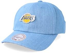 LA Lakers Hwc Pin Strapback Denim Adjustable - Mitchell & Ness