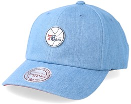 Philadelphia 76ers Hwc Pin Strapback Denim Adjustable - Mitchell & Ness
