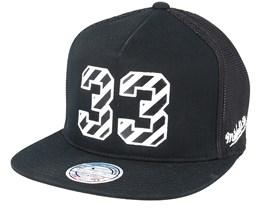 New York Knicks Hwc N&N Black 110 Trucker - Mitchell & Ness