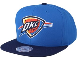 Oklahoma City Thunder Satin Fused Blue/Navy Snapback - Mitchell & Ness