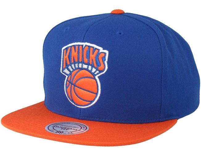 reputable site 1afd7 5a78f New York Knicks Satin Fused Blue Snapback - Mitchell   Ness caps -  Hatstoreworld.com