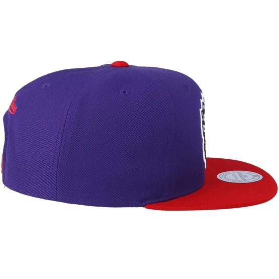 992f575b863f5 Toronto Raptors Satin Fused Purple Snapback - Mitchell & Ness