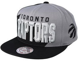 Toronto Raptors Shark Tooth Grey/Black Snapback - Mitchell & Ness