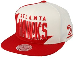 Atlanta Hawks Sharktooth White/Red Snapback - Mitchell & Ness