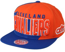 Cleveland Cavaliers Sharktooth Orange/Blue Snapback - Mitchell & Ness