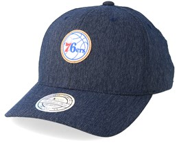 Philadelphia 76ers Kraft Navy 110 Adjustable - Mitchell & Ness