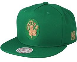 Boston Celtics Cork Green Snapback - Mitchell & Ness