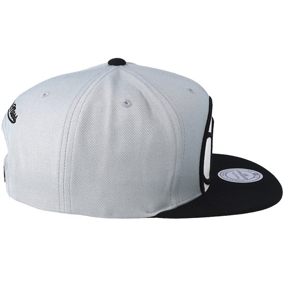 Brooklyn Nets Crop XL Grey Black Snapback - Mitchell   Ness caps -  Hatstoreworld.com 11fddc1af0b