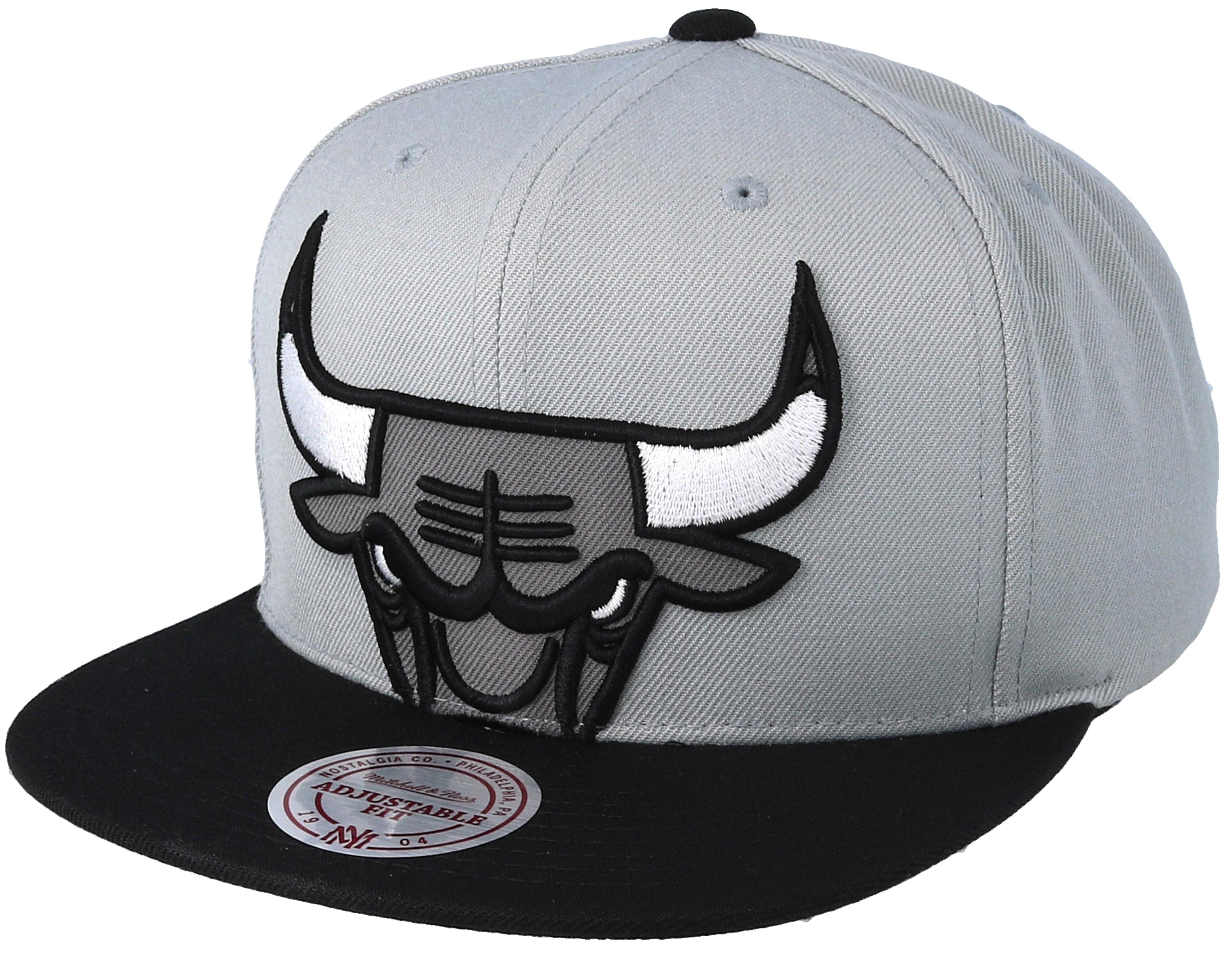 Chicago Bulls Crop XL Grey/Black Snapback - Mitchell ...