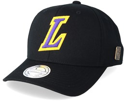 LA Lakers Freshman Black 110 Adjustable - Mitchell & Ness