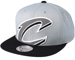 Cleveland Cavaliers Crop XL Grey/Black Snapback - Mitchell & Ness