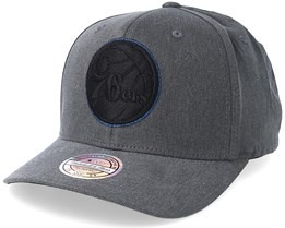 Philadelphia 76ers Washed Denim Charcoal 110 Adjustable - Mitchell & Ness