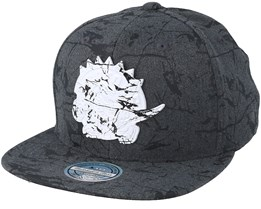 Toronto Raptors Marble Charcoal Snapback - Mitchell & Ness