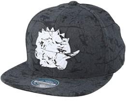Toronto Raptors Marble Charcoal Snapback - Mitchell & Ness