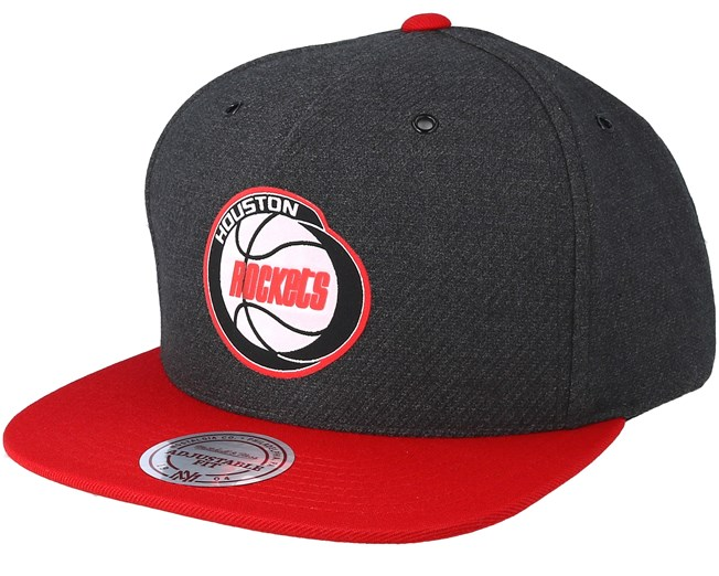finest selection 330cb 1ddf5 Houston Rockets Woven Reflective Charcoal Snapback - Mitchell   Ness caps -  Hatstoreworld.com