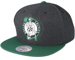Boston Celtics Woven Reflective Charcoal Snapback - Mitchell & Ness