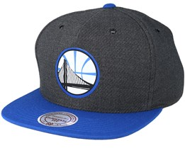 Golden State Warriors Woven Reflective Charcoal Snapback - Mitchell & Ness