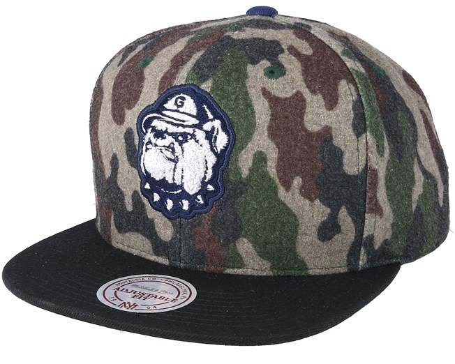 separation shoes d8122 5b0aa Georgetown Hoyas Flanell Camo Camo Black Snapback - Mitchell   Ness