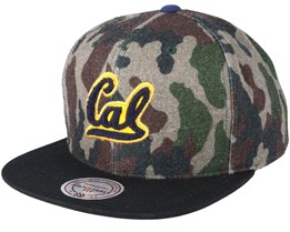 California University Flanell Camo Camo/Black Snapback - Mitchell & Ness
