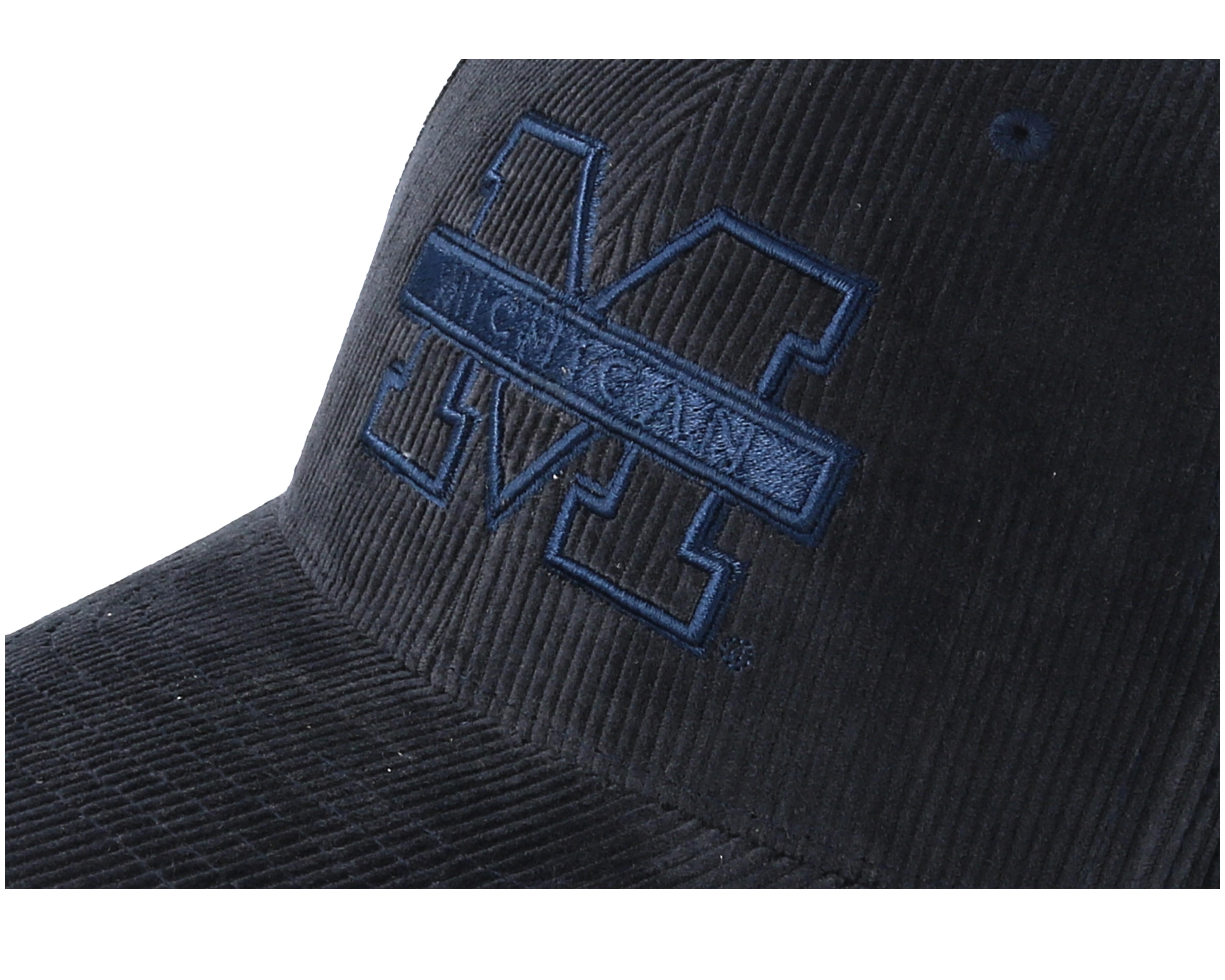 Oakley Det Cord >> Michigan Wolverines Cord Indigo Adjustable - Mitchell & Ness cap - Hatstore.de
