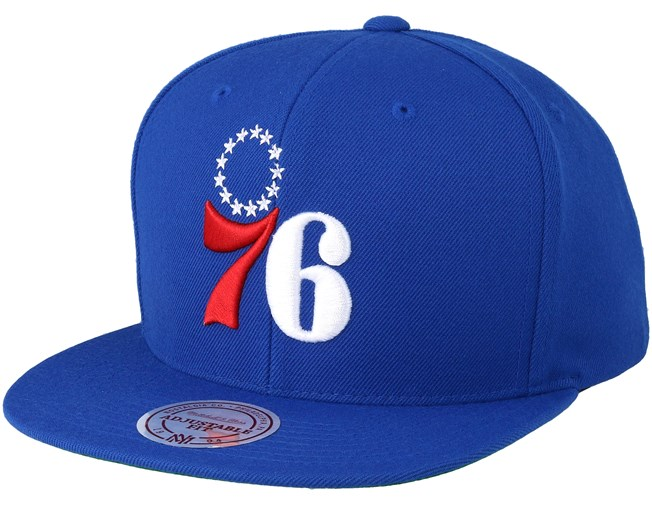 02e7810fb7b Philadelphia 76ers Wool Solid Blue Snapback - Mitchell   Ness caps -  Hatstoreworld.com