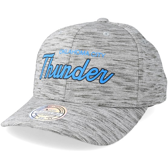 half off c8c17 39895 Oklahoma City Thunder Slub Print Grey 110 Adjustable - Mitchell   Ness caps  - Hatstorecanada.com