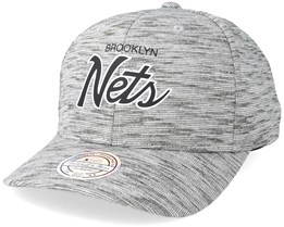 Brooklyn Nets Slub Print Grey 110 Adjustable - Mitchell & Ness