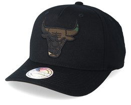 Chicago Bulls 110 Black/Camo Adjustable - Mitchell & Ness