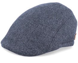Maddy El Wool Anthracite Flat Cap - MJM Hats
