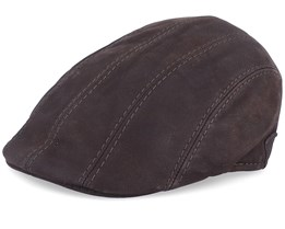 Maddy Nappa Wax Brown Flat Cap - MJM Hats