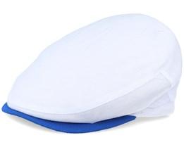 Coast Pique White Flat Cap - MJM Hats