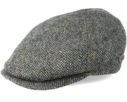 Broker 100% Virgin Wool 4 Green Flat Cap - MJM Hats