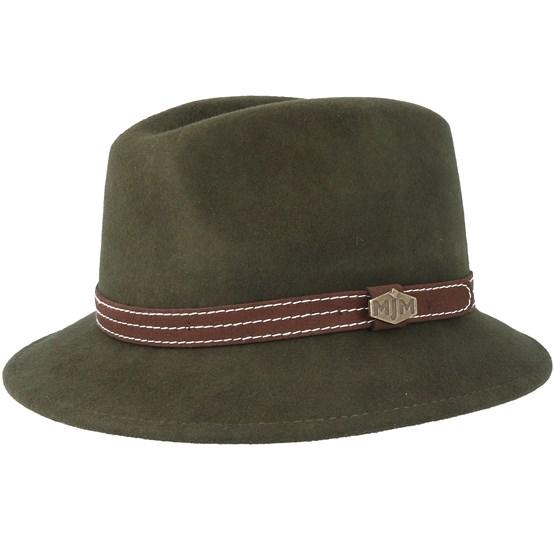 Hatt Walker Woolfelt W-P Loden Green Fedora - MJM Hats - Grön Fedora