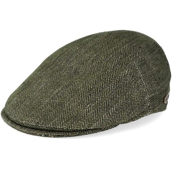 Keps Urban 100% Linen Green Flat Cap - MJM Hats - Grön Flat Caps