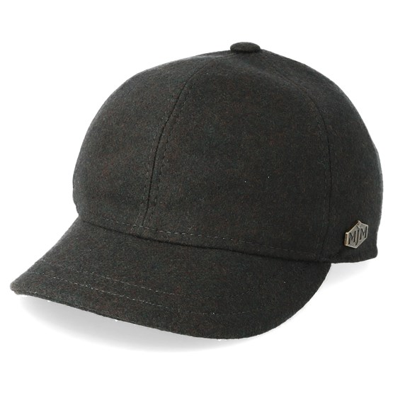 Keps Baseball El 100% Eco Merino Wool Loden Dark Grey Fitted - MJM Hats - Grå Fitted