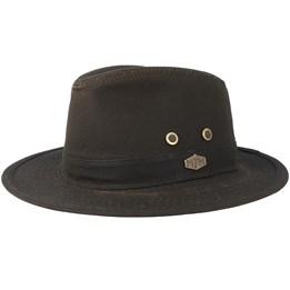 361fd5dae1d Ava Waxed Cotton Brown Trilby - Stetson hats - Hatstoreaustralia.com