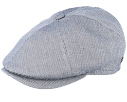 Rebel Cotton Light Blue Flat Cap - MJM Hats