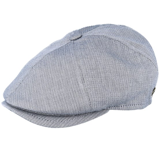 Keps Rebel Cotton Light Blue Flat Cap - MJM Hats - Blå Flat Caps