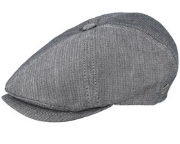 Rebel Cotton Grey Flat Cap - MJM Hats