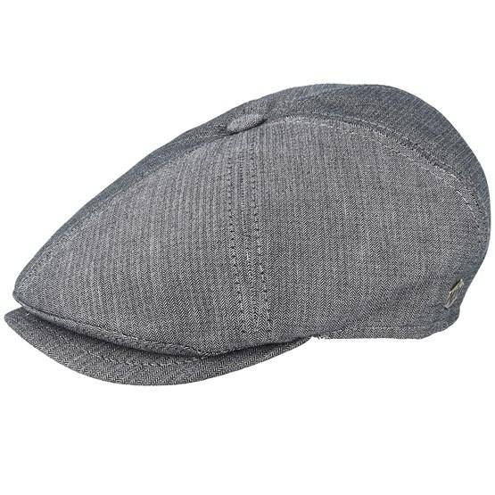 Keps Rebel Cotton Grey Flat Cap - MJM Hats - Grå Flat Caps