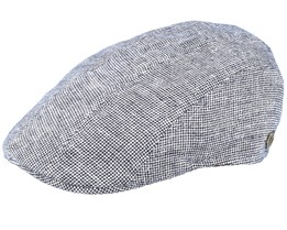 Maddy Linen Mix Grey Flat Cap - MJM Hats